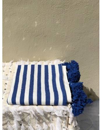 Berber Blanket in Blue Azure (Single)