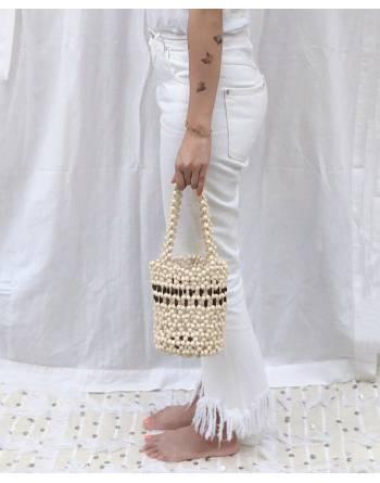 Tallulah Beaded Bucket Bag