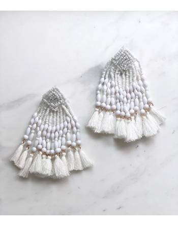 Layla Blanc Tassel Earrings
