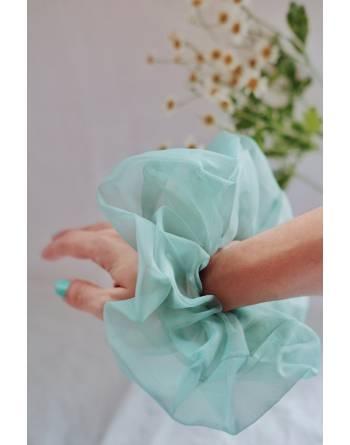 Pénélope Oversized Scrunchie (Mint Green)