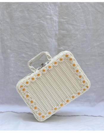 Tabby Picnic Basket in White