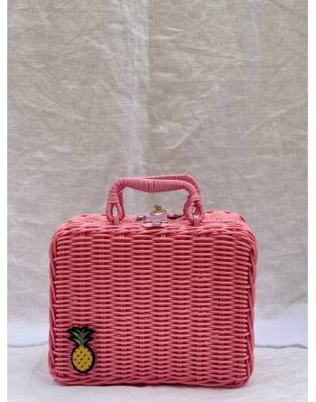 Tabby Picnic Basket in Pink